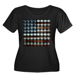 American Flag Creative Women's Plus Size Scoop Nec