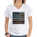 American Flag Creative Women's V-Neck T-Shirt