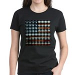 American Flag Creative Women's Dark T-Shirt