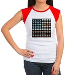 American Flag Creative Women's Cap Sleeve T-Shirt