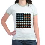 American Flag Creative Jr. Ringer T-Shirt