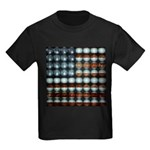 American Flag Creative Kids Dark T-Shirt