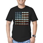 American Flag Creative Men's Fitted T-Shirt (dark)