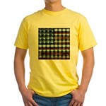 American Flag Creative Yellow T-Shirt