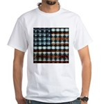 American Flag Creative White T-Shirt