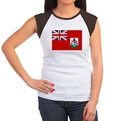 Bermuda Flag Women's Cap Sleeve T-Shirt
