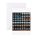 American Flag Creative Greeting Card