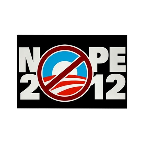NOPE 2012 Rectangle Magnet