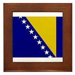Bosnia and Herzegovina Flag Framed Tile