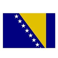 Bosnia and Herzegovina Flag Postcards (Package of