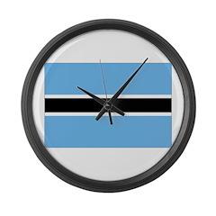 Botswana Flag Large Wall Clock