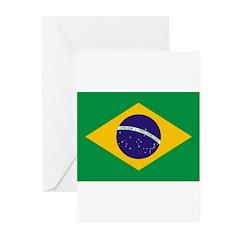 Brazil Flag Greeting Cards (Pk of 20)