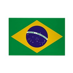 Brazil Flag Rectangle Magnet (10 pack)