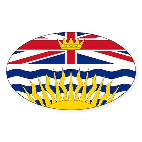 British Columbia Flag Sticker (Oval 10 pk)