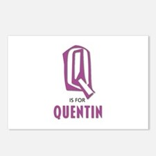 """""""Q"""" is for Quentin Postcards (Package of 8)"""