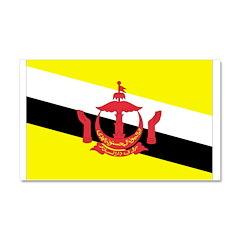 Brunei Flag Car Magnet 20 x 12