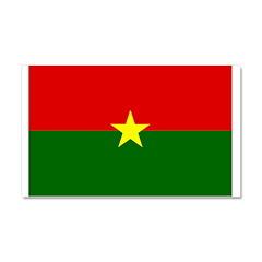 Burkina Faso Flag Car Magnet 20 x 12