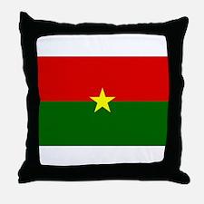 Burkina Faso Flag Throw Pillow