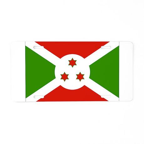 Burundi Flag Aluminum License Plate