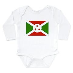Burundi Flag Long Sleeve Infant Bodysuit