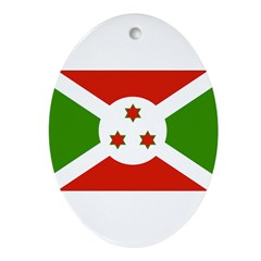 Burundi Flag Ornament (Oval)
