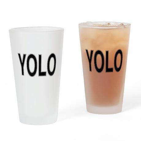 YOLO Drinking Glass