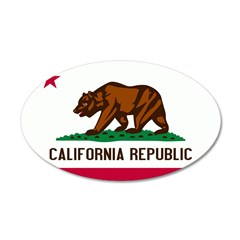 California Flag 38.5 x 24.5 Oval Wall Peel
