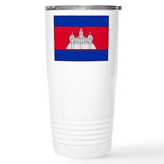 Cambodia Flag Travel Mug
