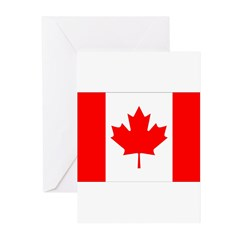 Canada Flag Greeting Cards (Pk of 20)