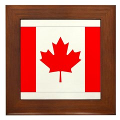 Canada Flag Framed Tile