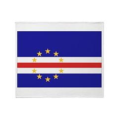 Cape Verde Flag Throw Blanket