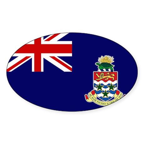 Cayman Islands Flag Sticker (Oval 50 pk)