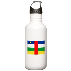 Central African Republic Flag Water Bottle