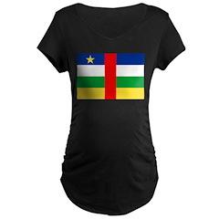 Central African Republic Flag Maternity Dark T-Shi