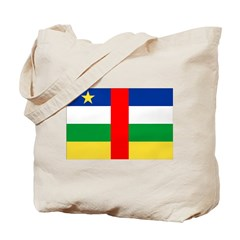 Central African Republic Flag Tote Bag