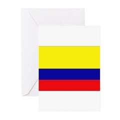 Colombia Flag Greeting Cards (Pk of 10)