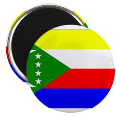 "Comoros Flag 2.25"" Magnet (10 pack)"