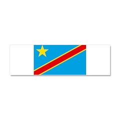 Congo Flag Car Magnet 10 x 3