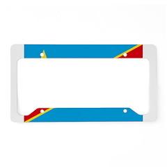 Congo Flag License Plate Holder