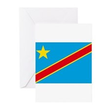 Congo Flag Greeting Cards (Pk of 20)