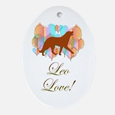 Leonberger Love! Oval Ornament