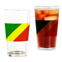 Congo Republic Flag Drinking Glass