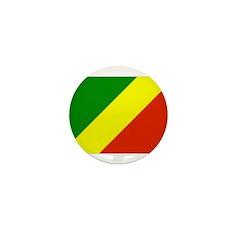 Congo Republic Flag Mini Button (100 pack)