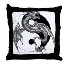 Yin Yan Symbol Throw Pillow