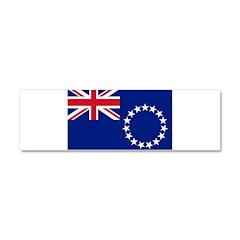 Cook Islands Flag Car Magnet 10 x 3