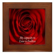 Capacity to Love is Endless Framed Tile