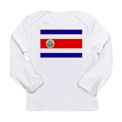 Costa Rica Flag Long Sleeve Infant T-Shirt
