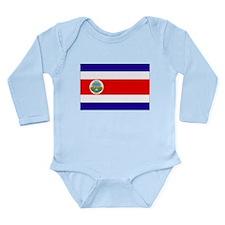 Costa Rica Flag Long Sleeve Infant Bodysuit