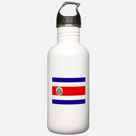 Costa Rica Flag Water Bottle