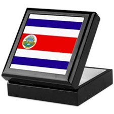 Costa Rica Flag Keepsake Box